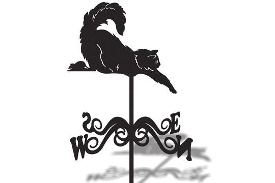 Флюгер большой кот